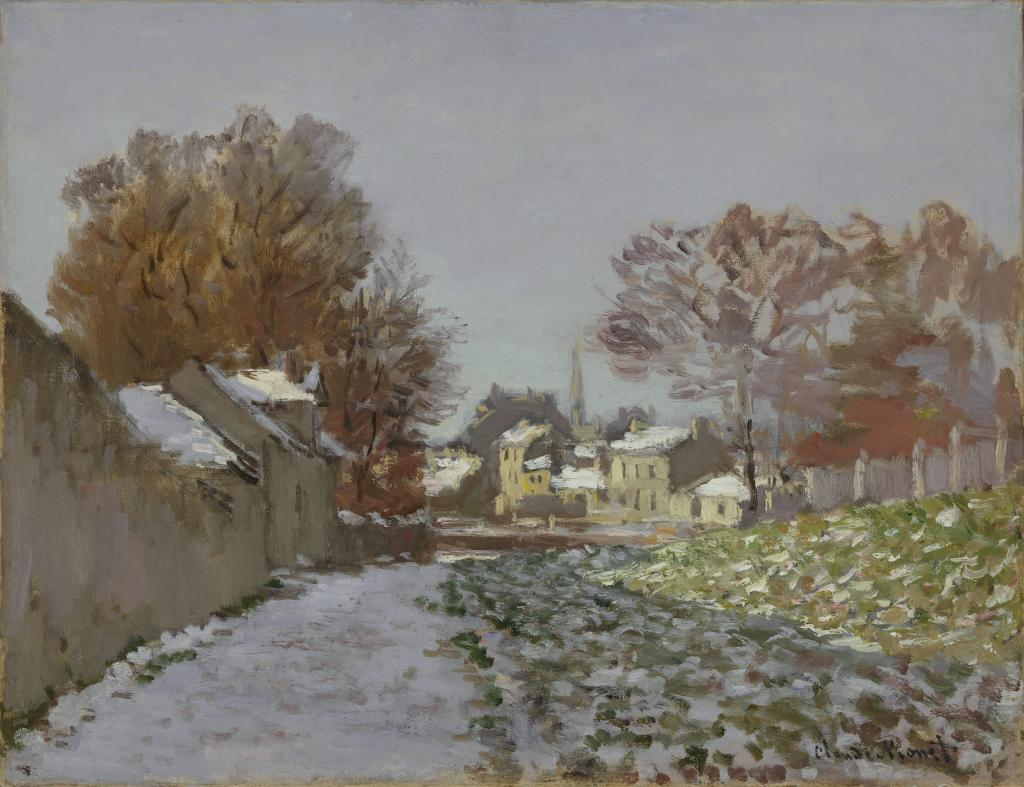 911efc8054d52 Snow Effect at Argenteuil – Works – The Nelson-Atkins Museum of Art