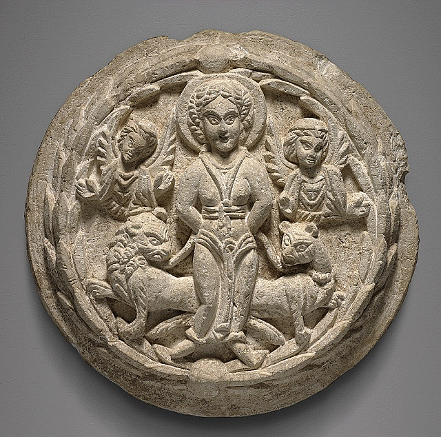 Saint Thecla with Wild Beasts and Angels, 5th century C.E.
