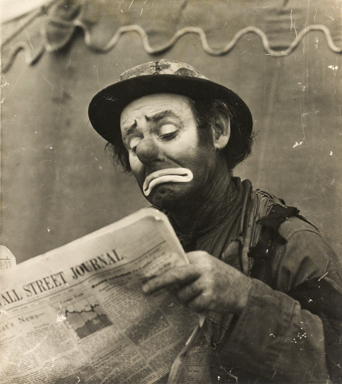 Untitled (Clown reading Wall Street Journal) – Works – The Nelson ...